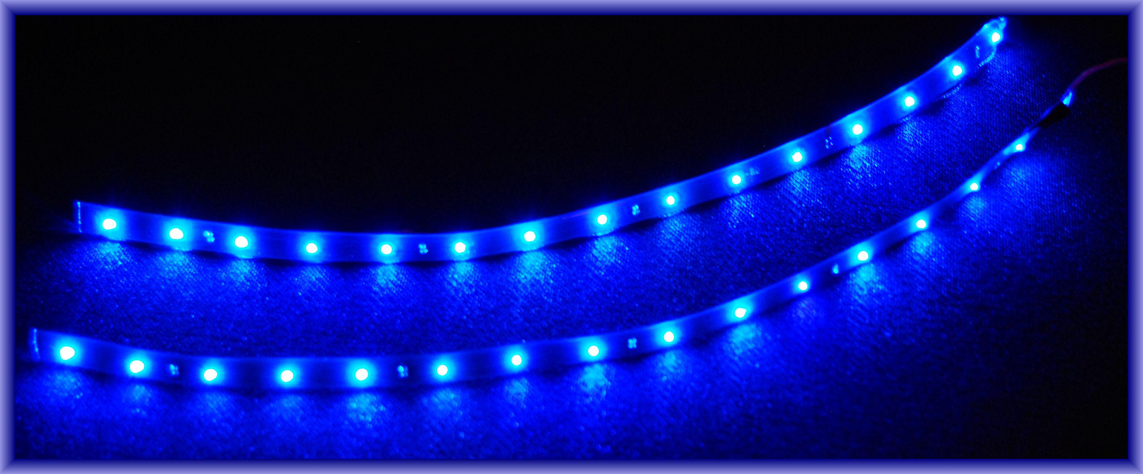 3 x 30cm pc beleuchtung led blau pc licht incl kabel ebay